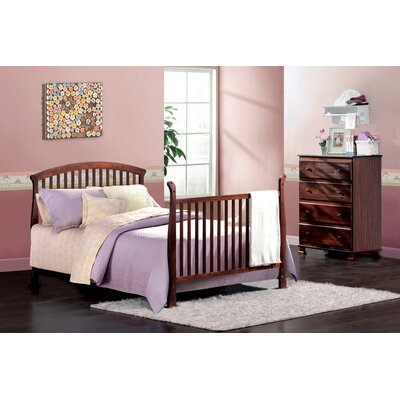DaVinci Thompson Two Piece Convertible Crib Set with Toddler Rail in Coffee