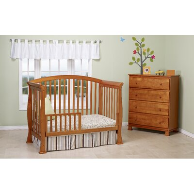DaVinci Thompson Two Piece Convertible Crib Set  with Toddler Rail in Oak