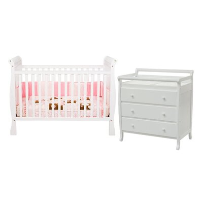 DaVinci Jamie Two Piece Convertible Crib Set in White