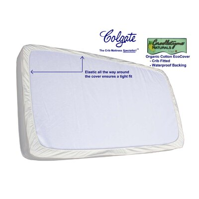 Colgate Colgate Organic Cotton Crib Fitted Mattress Cover