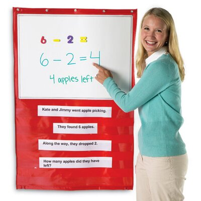 Learning Resources Write and Wipe Magnetic Hanging Pocket Chart