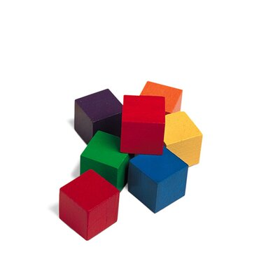 Learning Resources Cubes Wood 1 In 100 Pk 6 colors
