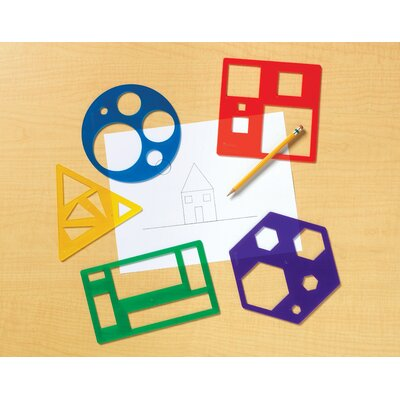 Learning Resources Primary Shapes Template 5 Piece Set