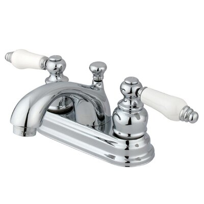 Centerset Bathroom Faucet with Double Porcelain Lever Handles - EB260PL