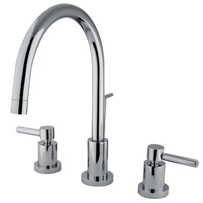 Elements of Design Widespread Bathroom Faucet with Double Lever Handles