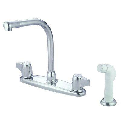 Elements of Design Double Handle Centerset Kitchen Faucet with Franklin Canopy Handles