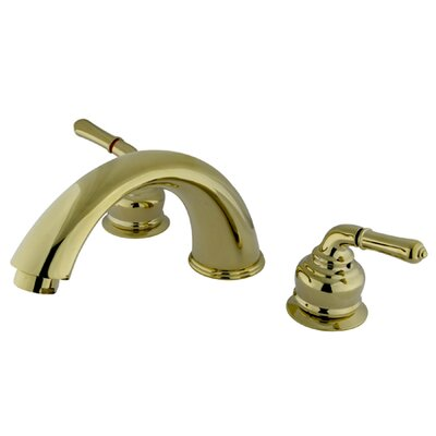 Elements of Design Magellan Double Handle Deck Mount Roman Tub Faucet Trim Magellan Lever Handle