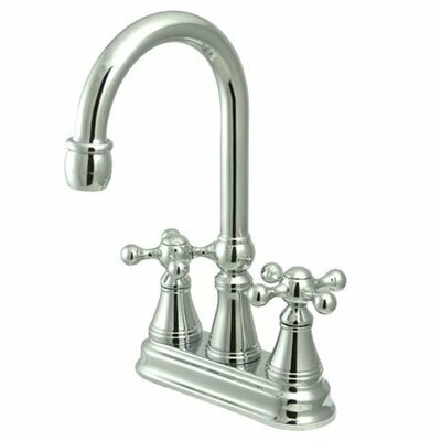 Elements of Design Madison Centerset Bar Faucet with Knight Cross Handles