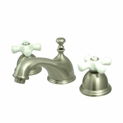 Elements of Design Widespread Bathroom Faucet with Double Porcelain Cross Handles