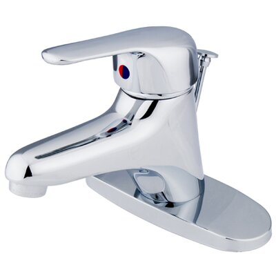Elements of Design Centerset Bathroom Faucet with Single Lever Handle