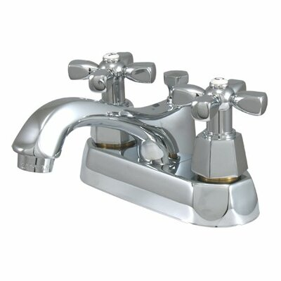Elements of Design Metropolitan Centerset Bathroom Faucet with Double Cross Handles