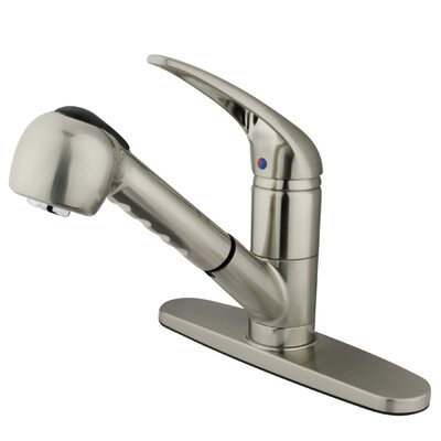 Elements of Design Daytona Single Handle Centerset Kitchen Faucet with Pullout Side Spray