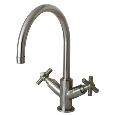 Elements of Design Concord Double Handle Kitchen Faucet with Plate without Sprayer