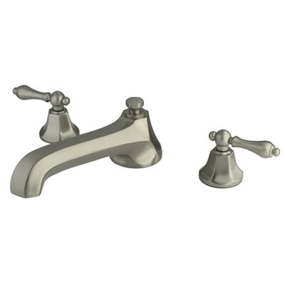 Elements of Design Metropolitan Double Handle Deck Mount Roman Tub Faucet Trim Metal Lever Handle