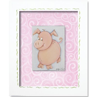 Western Pig Framed Giclee Wall Art