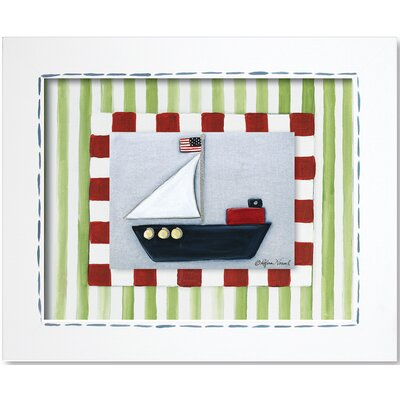 Doodlefish Transportation Sailboat Framed Giclee Wall Art