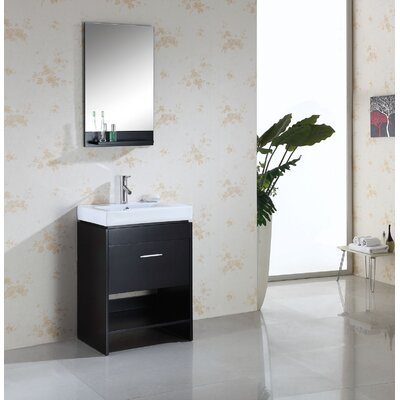 Virtu Gloria Single 24&quot; Bathroom Vanity Set in Espresso