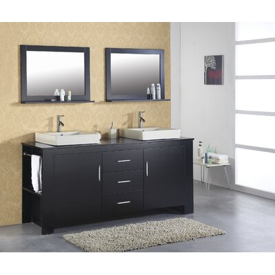 Virtu 72&quot; Double Bathroom Vanity Set in Espresso