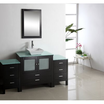 "Virtu Brentford 62.6"" Single Bathroom Vanity Set"