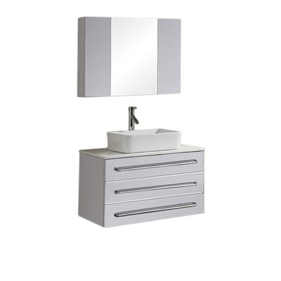 "Virtu Ivy 31.5"" Single Bathroom Vanity Set"