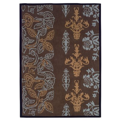 Linon Rugs Trio Chocolate Rug