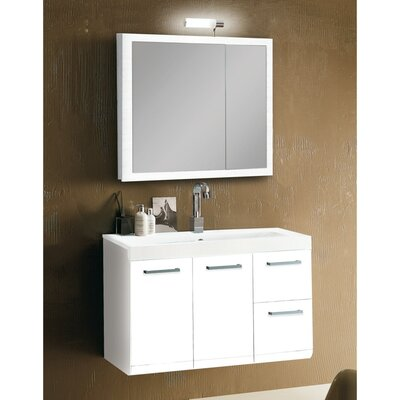 "Iotti by Nameeks Linear 38.3"" Wall Mounted Bathroom Vanity Set"