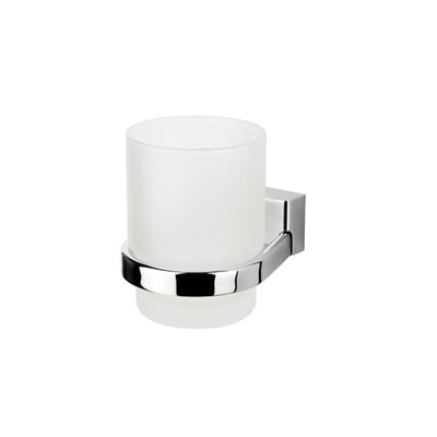 Geesa by Nameeks BloQ Wall Mounted Tumbler Holder in Chrome