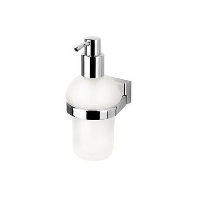 Geesa by Nameeks BloQ Wall Mounted Soap Dispenser in Chrome