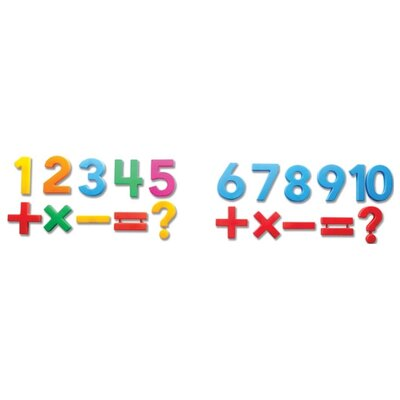 Educational Insights Jumbo MathMagnets - Multicolored
