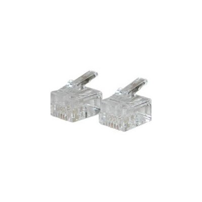 Cables to Go RJ11 Solid Cable Modular Plug (Set of 25)