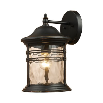 Wayfair Outdoor Wall Lights : Elk Lighting Lapuente 1 Light Outdoor Wall Lantern & Reviews Wayfair