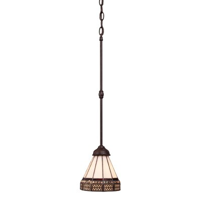 Landmark Lighting Stone Filigree 1 Light Mini Pendant