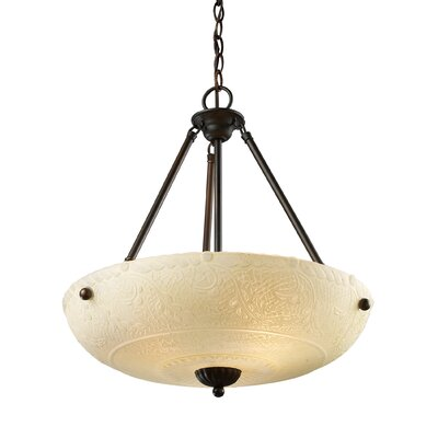 Landmark Lighting Restoration 4 Light Inverted Pendant