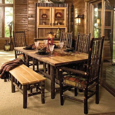Fireside Lodge Hickory 6 Piece Dining Set
