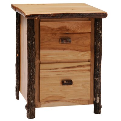 Fireside Lodge Hickory File Cabinet