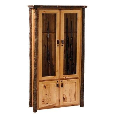 Fireside Lodge Hickory Gun Cabinet