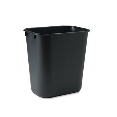 Rubbermaid Commercial Deskside Plastic Wastebasket, Rectangular, 3 1/2 Gal