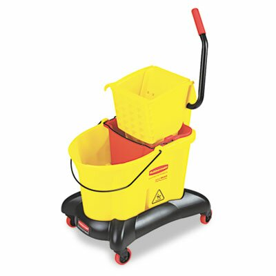 Rubbermaid Commercial Wavebrake 35-qt. Dual Water Side Press Mop Bucket and Wringer