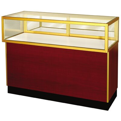 "Sturdy Store Displays Streamline 38"" x 48"" Jewelry Vision Standard Showcase with Panel Back"