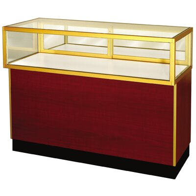 "Sturdy Store Displays Streamline 38"" x 70"" Jewelry Vision Standard Showcase with Panel Back"