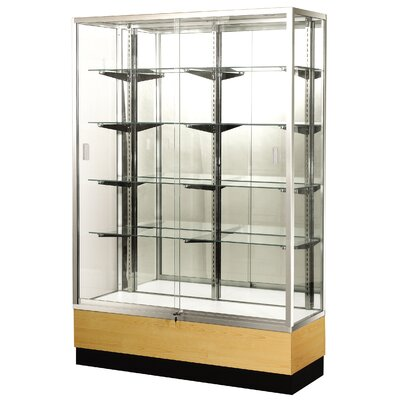 "Sturdy Store Displays Streamline 60"" x 15"" Trophy Case with Panel Back"