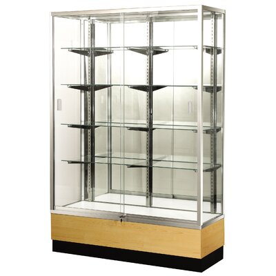 Sturdy Store Displays Streamline 60&quot; x 18&quot; Trophy Case with Panel Back