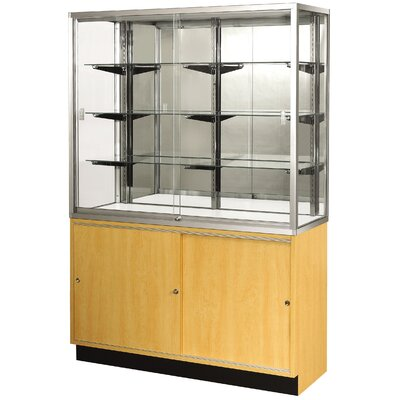 "Sturdy Store Displays Streamline 60"" x 18"" Wallcase with Mirror Back"