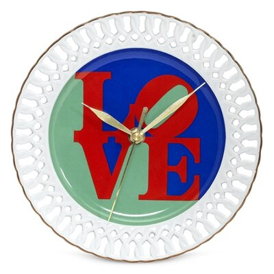 "PS Collection Robert Indiana ""Love"" Porcelain Wall Clock"