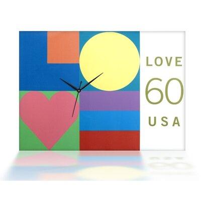 Mod Love Canvas Wall Clock