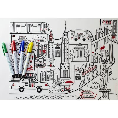 Modern-Twist Mark-mat Kid Box: New York + 4 Markers