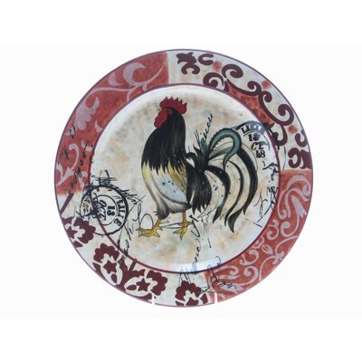 "Certified International Lille Rooster by Geoffrey Allen 17"" Round Platter"