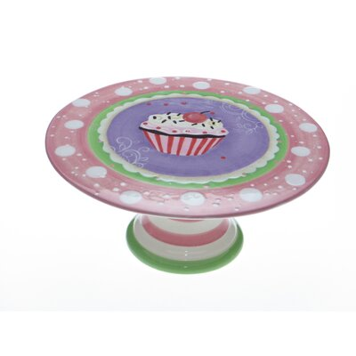 Certified International Cupcake Pedestal Cake Plate by LoriLynn Simms