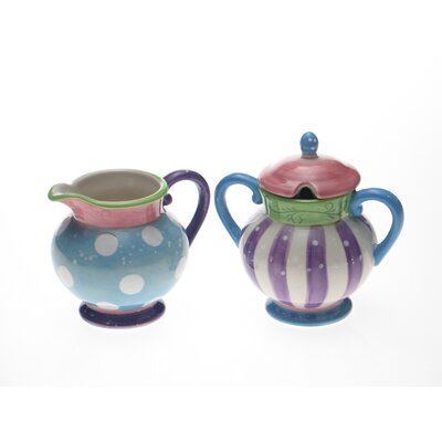 Certified International Cupcake by LoriLynn Simms Sugar and Creamer Set