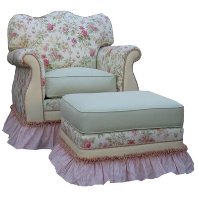English Bouquet Adult Empire Glider Rocker